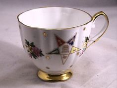 OES Teacup Vintage Bone China by Kent of England Order of The Eastern Star | eBay