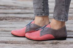 Rosa Lederschuhe Rosa Oxford Schuhe enge Schuhe von BangiShop
