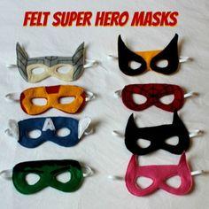 DIY: Felt Superhero Masks