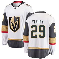 Fanatics Branded Vegas Golden Knights  29 Men s Marc-Andre Fleury Breakaway  White Away NHL e0265414b