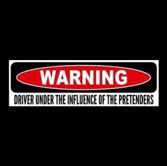 """""""DRIVER UNDER THE INFLUENCE OF THE PRETENDERS"""" rock band STICKER Chrissie Hynde"""