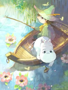 vederlicht:    We interrupt your regularly scheduled Moomins for a new picture of the ever-so-lovely Hachi-san. Their Moomin art is some of the best I know <3