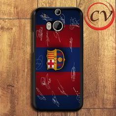 Fc Barcelona Signature HTC One M8 Black Case