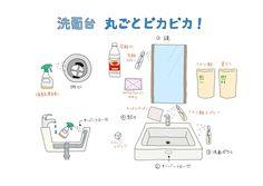 毎日使う洗面台は家の中でもとくに汚れが溜まりやすい場所ですね。 ここでは、洗面台を丸ごとピカピカに掃除できるコツを4つと、目につきにくいオーバーフロー穴の汚れや臭いの掃除方法も合わせてご紹介します。 年末の大掃除にもオススメです! 洗面台の掃除ポイントは大きく分けて4つ! まずは洗面台の掃除ポイントをまとめてみましょう。 鏡……歯磨きや洗顔のときに飛んだ水滴による汚れ オーバーフロー穴……黒いカビ…