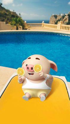 Porquie 😅 Pig Wallpaper, Funny Phone Wallpaper, Animal Wallpaper, Disney Wallpaper, Cute Piglets, Pig Illustration, Funny Pigs, Mini Pigs, Baby Pigs