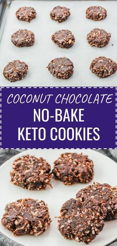 These keto no bake cookies are coconut and chocolate flavored, and incredibly easy to make in just 5 minutes with minimal fuss. They're healthy grab-and-go snacks for anyone on a low carb diet. Click the pin to find the recipe, nutrition facts, cooking tips, & more photos. #healthyrecipes #lowcarb #keto #ketorecipes / peanut butter / best keto dessert recipe