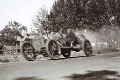 A LaFrance Speedster at speed