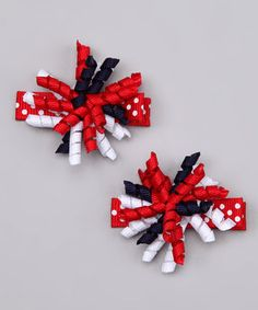 Another great find on #zulily! Red & Navy Americana Korker Clip Set by Nantucket Girl #zulilyfinds
