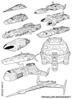 The Starships of Traveller. Spaceship Art, Spaceship Design, Concept Ships, Concept Art, Space Story, Starship Concept, Sci Fi Spaceships, Cyberpunk, Sci Fi Ships
