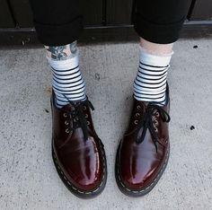 Docs and Socks: The Vegan 1461 shoe. Shop here. Photo by @thekristina. https://tmblr.co/ZgAKSs2F0eq9a