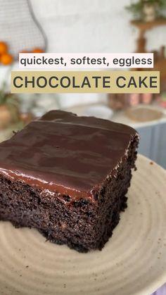 Chocolate Dishes, Chocolate Cake Recipe Easy, Chocolate Recipes, Simple Chocolate Cake, Cooking Chocolate, Homemade Cake Recipes, Fun Baking Recipes, Snack Recipes, Indian Dessert Recipes
