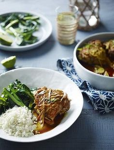 Pete Evans' Burmese chicken curry. This is not a 'curry' curry. Not spicy at all. It's more chinese to me and it's amazing. Of course you can substitute 'normal' ingredients for the paleo ones. I love cauliflower rice so that's what I use but you don't have to. This is a brilliant dinner for anyone. LOVE it.