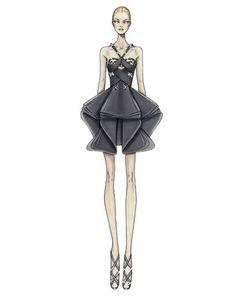 Moda y costura: Versace Bocetos :)