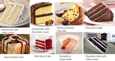 cake filling flavours - Google Search