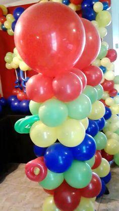 Balloon Backdrop, Balloon Columns, Balloon Garland, Diy Birthday Decorations, Balloon Decorations, Balloon Ideas, Safari Party, Circus Party, Prom Themes