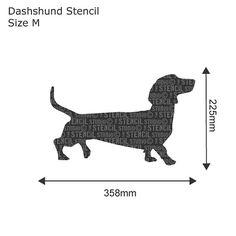 Dachshund dog Stencil from The Stencil Studio. by TheStencilStudio