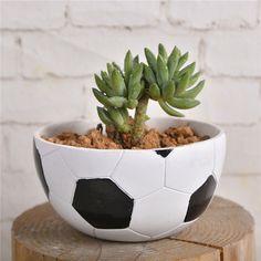 Vaso da Fiori a forma di palla da Calcio