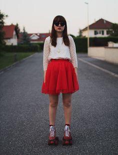 Dresses on a clothesline