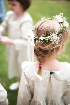 An uber cool vintage tea party wedding with a touch of festival and a dash of theatricality Girls Crown, Flower Girl Crown, Flower Crown Wedding, Flower Girls, Wedding Flowers, Tea Party Wedding, Dream Wedding, Dresses Uk, Flower Girl Dresses