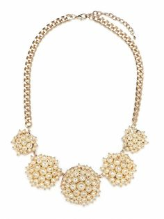 bauble bar pearl cluster bib necklace.
