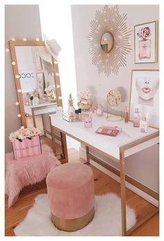 Duvet Covers for Any Bedroom Decor | Society6 #makeup #desk #design #makeupdeskdesign Makeup Vanities, Makeup Table Vanity, Vanity Tables, White Makeup Vanity, White Vanity, Makeup Tables, Mirror Vanity, Pink Makeup, Vanity Set