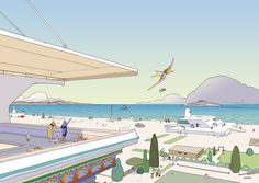 Back in Jean Giraud, better known as Moebius, was commissioned by Hermès to create nine illustrations for a campaign called Voyage d'Hermès. The work is unabashedly Moebius with basically no … Comic Book Artists, Comic Artist, Comic Books, Star Wars Episodio V, Jean Giraud Moebius, Cyberpunk, Moebius Comics, Nogent Sur Marne, Thé Illustration