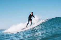 Surfing on a clear day, how bloody good!