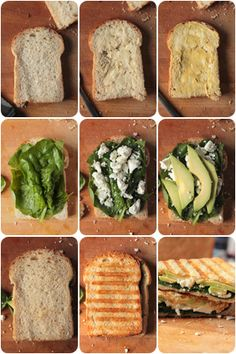 Avocado Spinat Sandwich