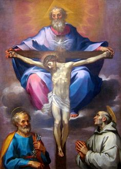 Ventura di Archangelo Salimbeni, The Trinity with Saint Peter and Saint Bernard, late 16th century