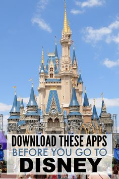 Best Phone Apps for a Disney Vacation - Telefon Disney World Vacation Planning, Disneyland Vacation, Disneyland Tips, Disney World Florida, Disney World Parks, Walt Disney World Vacations, Disney Planning, Disney Worlds, Orlando Vacation