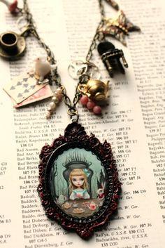 Alice and wonderland necklace