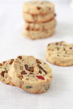 A recipe for slice and bake fruitcake cookies that is really easy and perfect for the holiday season.