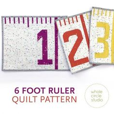 6 Foot Ruler quilt pattern: PDF download – WholeCircleStudio