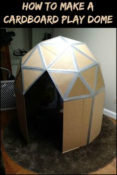 Keep The Kids Entertained by Building This Awesome Geodesic Playhouse From Cardboard!