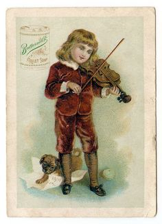 Make sure you click the images to bring up the largest size!Today I scanned these 2 darling Victorian advertising Trade Cards! The first card shows a pretty little girl dressed in a red fur trimmed coat, the second one features a sweet boy in a velvet suit playing the violin next to his pup. Although...Read More »