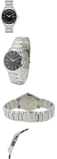 4fb459bab Watches Parts and Accessories 14324: Bulova Men S Classic Quartz Black Dial  Silver-Tone