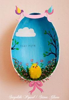 Allra Helst - målat med mera av Stina Glaas: Tittskåp av påskägg - tutorial