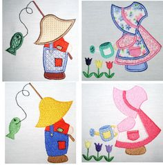 sunbonnet sue and sam applique patterns | Sunbonnet Sue & Sam - $7.48 : The Country Needle Embroidery Designs ...