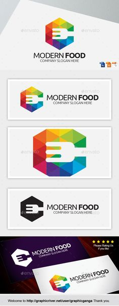 Mordern Food - Food Logo Templates