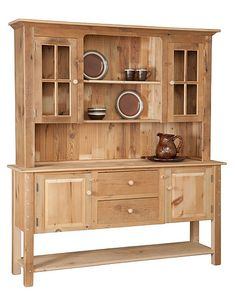 """#6 SBWHT 6'Shaker Buffet with 66"""" Welsh Hutch Top (82""""H x 72""""W x 18""""D)"""