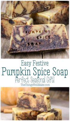 to make an easy pumpkin spice soap with pumpkin puree and goat milk; perfect for autumn, Halloween and Thanksgiving.How to make an easy pumpkin spice soap with pumpkin puree and goat milk; perfect for autumn, Halloween and Thanksgiving. Handmade Soap Recipes, Soap Making Recipes, Pumpkin Spice, Pumpkin Puree, Goat Milk Soap, Lotion Bars, Home Made Soap, Thanksgiving, Diys