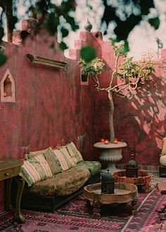 Moorish-Bohemian courtyard