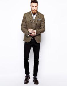 Enlarge ASOS Slim Fit Blazer In Harris Tweed