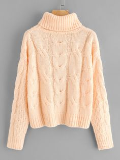 To find out about the Roll Neck Cable Knit Jumper at SHEIN, part of our latest Sweaters ready to shop online today! Outfits For Teens, Fall Outfits, Cute Outfits, Fashion Outfits, Noora Skam, Cable Knit Jumper, Cardigan, Roll Neck, Knit Fashion
