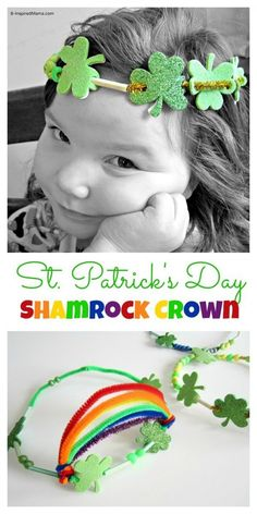 St Patrick Craft Crown for Kids at http://B-InspiredMama.com