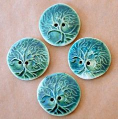 Handmade Buttons - Large Tree