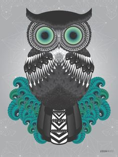 Owl project by susana richter, via behance wallpaper for your phone, owl wa Mickey Wreath, Owl Wallpaper, Wallpaper Backgrounds, Iphone Wallpaper, Wallpapers Kawaii, Owl Always Love You, Owl Art, Cute Owl, Illustrations And Posters