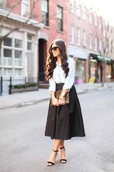 My Lovely World - Fashion Blog | Midi Skirt: 20 outfits inspired | http://mylovelyworld9.com
