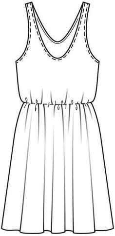 Платье и чехол - выкройка № 128 из журнала 6/2013 Burda – выкройки платьев на Burdastyle.ru
