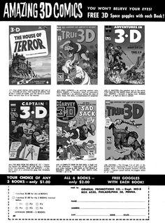 3-D Comic Books - 3dfilmarchive Glitch, Believe In You, 3 D, Comic Books, Comics, Image, Kunst, Hacks, Cartoons
